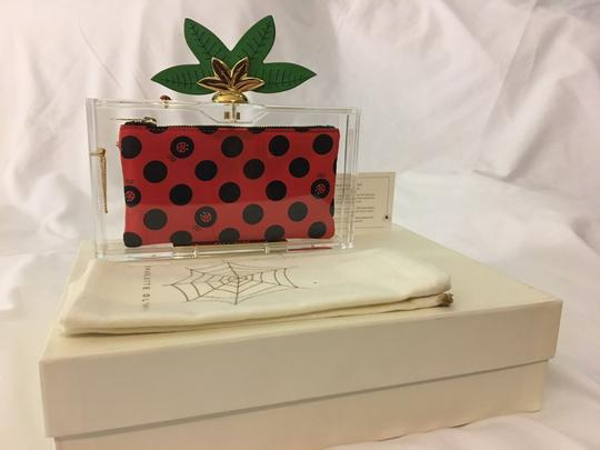 Charlotte Olympia Ladybug Flower Garden Leaf Summer Clear and Polkadots Clutch Image 5