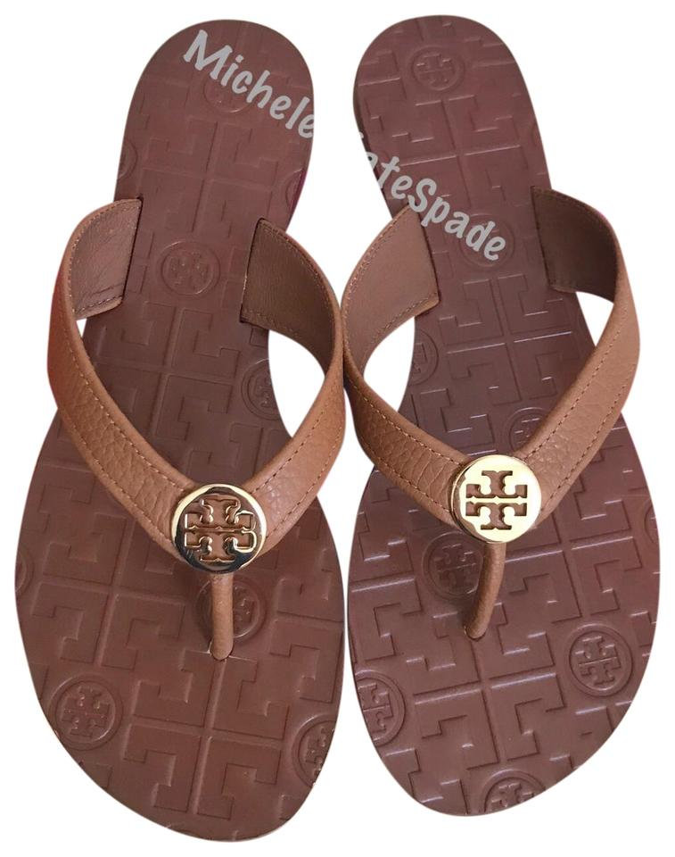 6a5ecacb5 Tory Burch Brown Thora Thong Leather Royal Tan Sandals Size US 7 ...