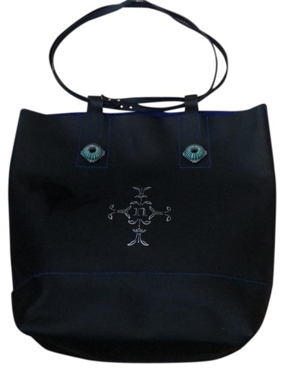 Preload https://img-static.tradesy.com/item/23405261/nanette-lepore-black-leather-with-royal-blue-suede-interior-tote-0-1-540-540.jpg