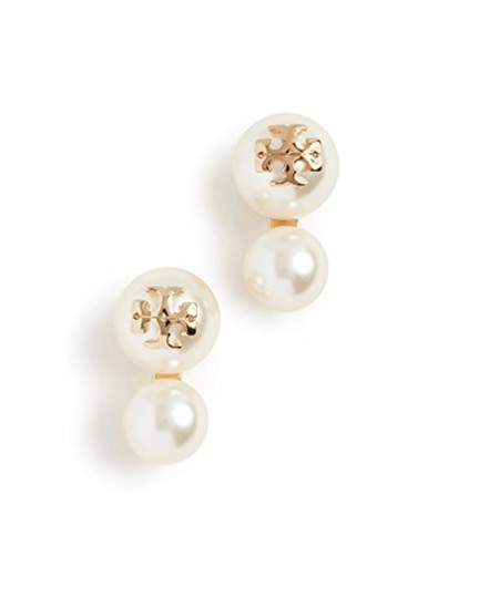 Preload https://img-static.tradesy.com/item/23405267/tory-burch-white-gold-stud-w-crystal-pearl-double-dust-bag-logo-earrings-0-1-540-540.jpg