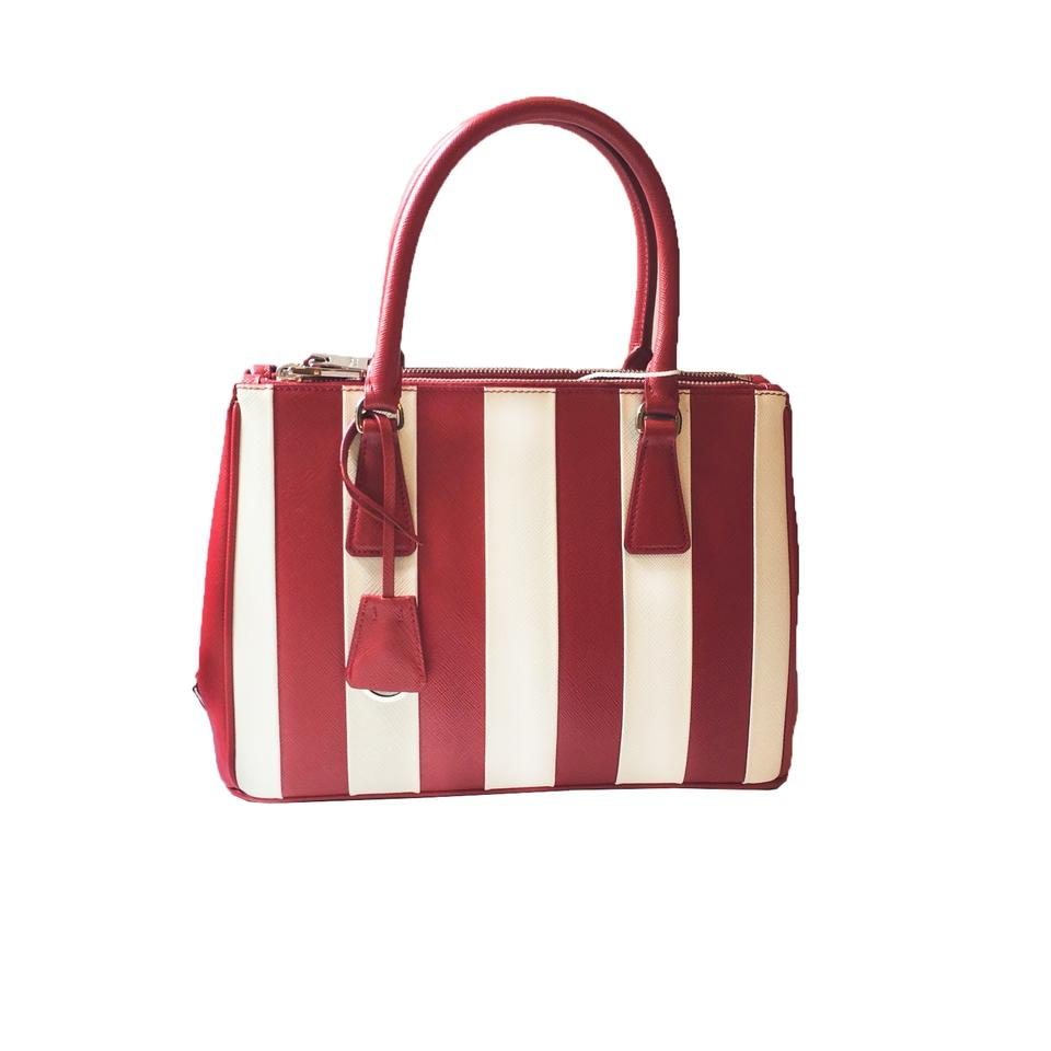 Prada Handbags Women White Satchel In Red