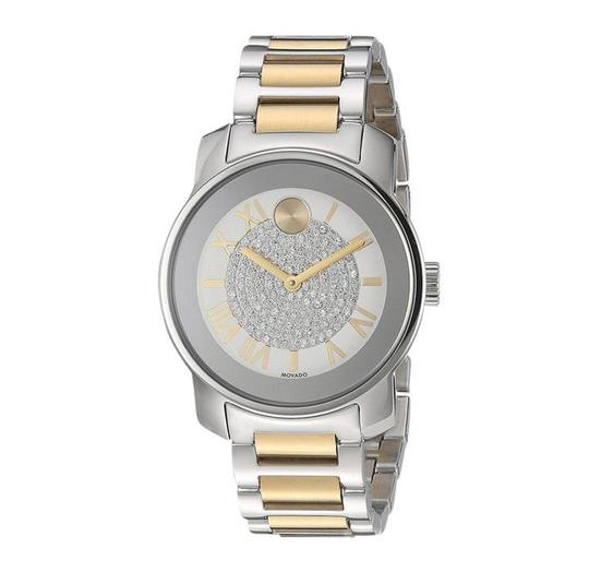 Movado Bold Silver Dial Two Tone Ladies Watch Image 0