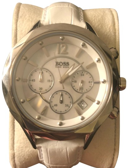 Preload https://img-static.tradesy.com/item/23405438/boss-by-hugo-boss-white-silver-chronograph-leather-band-with-mother-of-pearl-face-watch-0-1-540-540.jpg