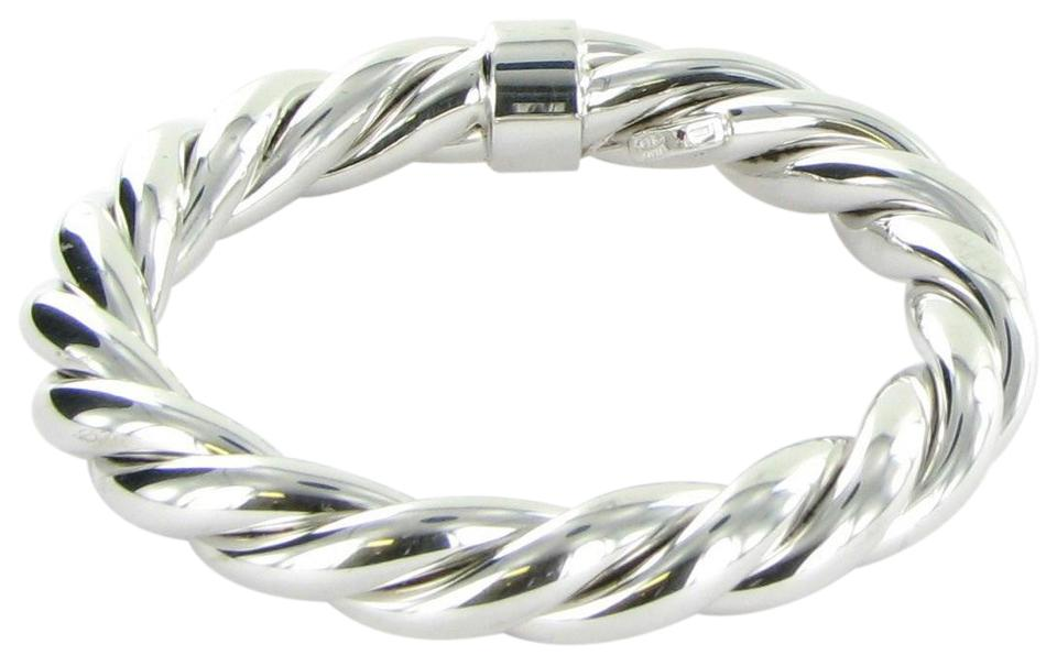 Roberto Coin Sterling Silver 5th Season Twisted Bangle Bracelet 29 Off Retail