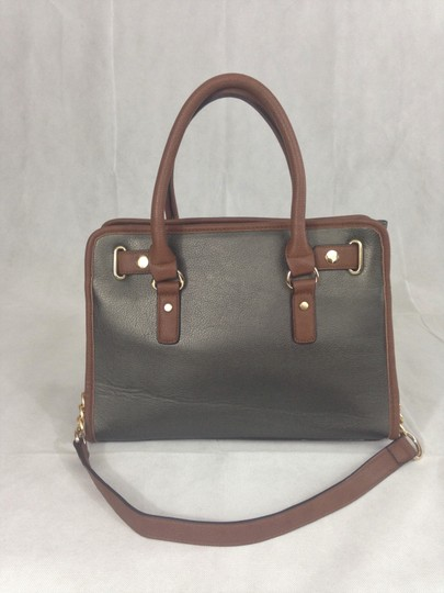 Unbranded Satchel in Grey / Brown Image 3