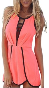 ecd8eea7df96 Other Coral V Hollow Playsuit Party Jumper Romper Jumpsuit