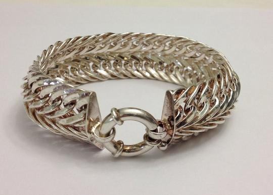 Bella & Chloe Extra wide 5/8 inch Wide Sterling Silver Bracelet with large round clasp, 31.2 grams of sterling silver! Heirloom Quality!