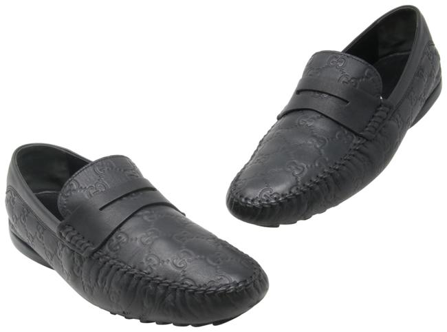 Item - Black San Marino ssima Gg Leather Men's Loafers 9.5g Formal Shoes Size US 10.5 Wide (C, D)