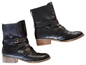 Denim & Supply Motorcycle Ralph Lauren Brit Frye Engineer Black Boots