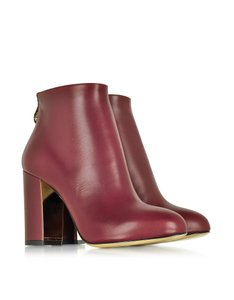 Charlotte Olympia Gold Heel Heel Golden Hardware Spider Web Fall Burgundy Boots