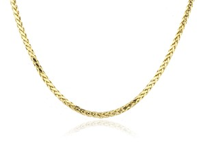 JMD LUX 24 Inch 10KT Gold Wheat / Palm Chain 2.5mm Necklace Unisex