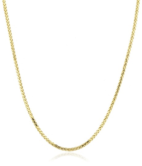 JMD LUX 24 Inch 10KT Gold Wheat / Palm Chain 2.5mm Necklace Unisex Image 1