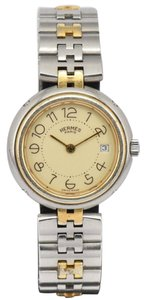 Hermès Vintage Profile Gold Stainless Steel Quartz Womens Watch