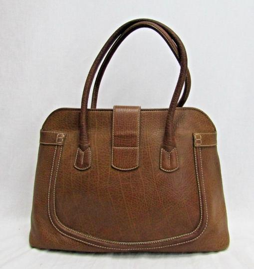 Tod's Leather Buckle Pebbled Satchel in brown Image 10