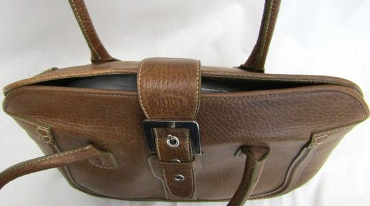 Tod's Leather Buckle Pebbled Satchel in brown Image 2