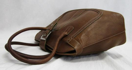 Tod's Leather Buckle Pebbled Satchel in brown Image 3