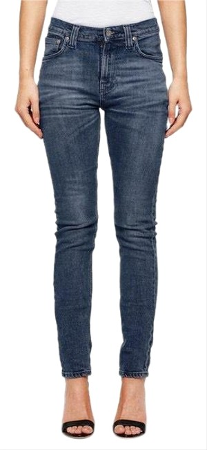 Preload https://img-static.tradesy.com/item/23406175/blue-high-waisted-skinny-jeans-size-4-s-27-0-1-650-650.jpg