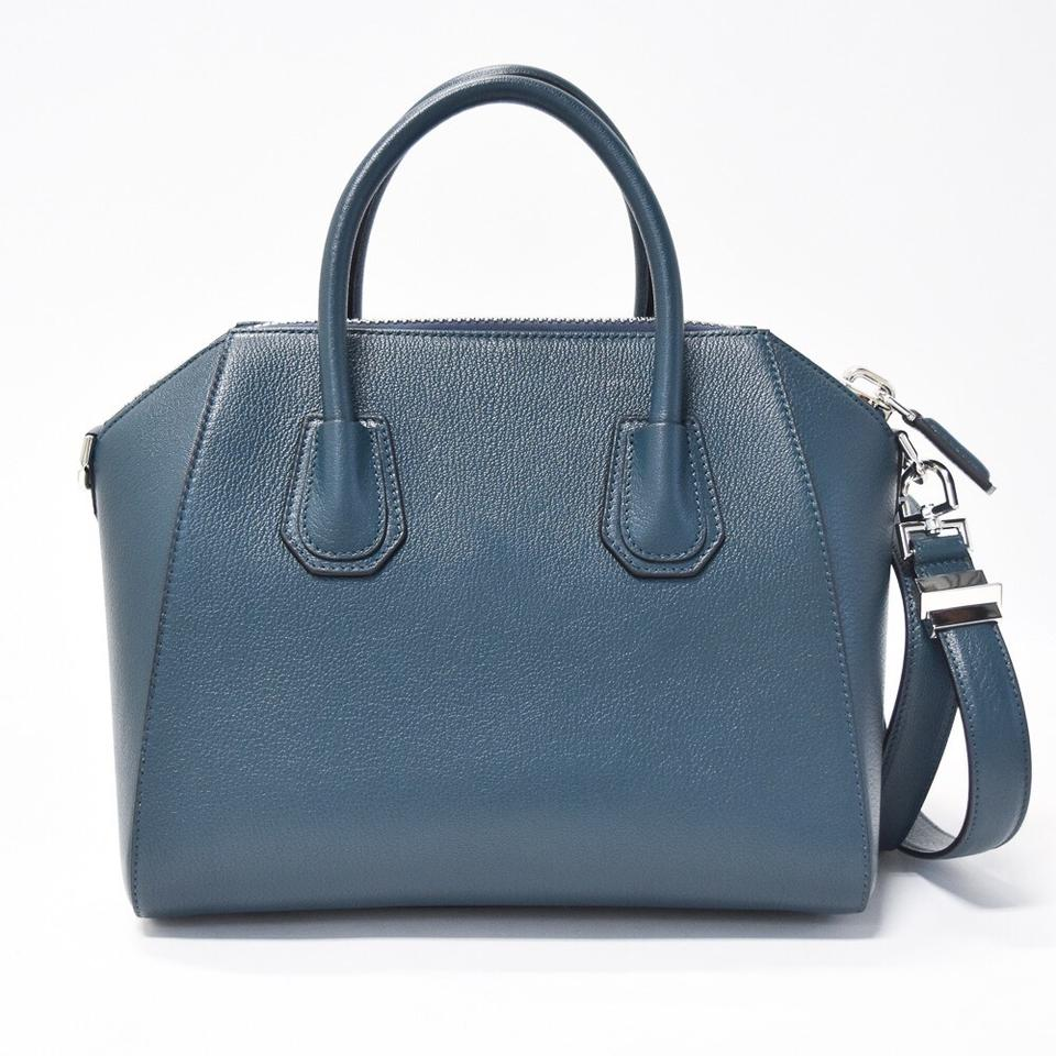 4f5a6f181e43 Givenchy Antigona Small Prussian Blue Leather Satchel - Tradesy