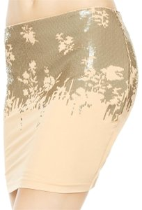 La Perla Black Mini Skirt Beige