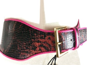 B-Low the Belt Snake Leather Wide Small Belt