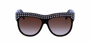 Gucci NEW GUCCI GG0147S 002 HAVANA DESIGNER SUNGLASSES WITH CRYSTALS