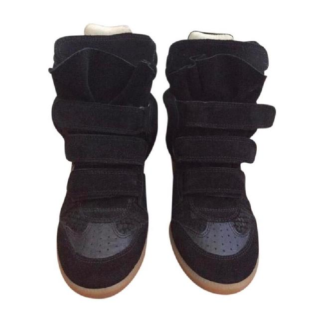 Item - Black Wedge Sneakers Size US 7.5 Regular (M, B)