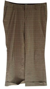 Gap Work Attire Cuff Plaid Trouser Pants Nova check