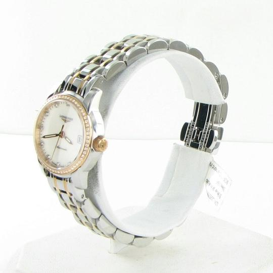 Longines L22635877 Saint Imier Diamond Bezel Dial 18K Gold Steel 26mm Ladies Image 1