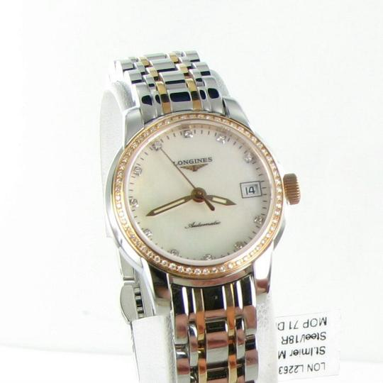 Longines L22635877 Saint Imier Diamond Bezel Dial 18K Gold Steel 26mm Ladies Image 2