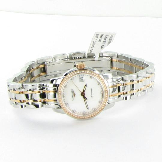 Longines L22635877 Saint Imier Diamond Bezel Dial 18K Gold Steel 26mm Ladies Image 3