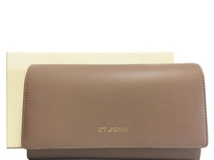 St. John St. John - Leather Compartment Wallet - Taupe