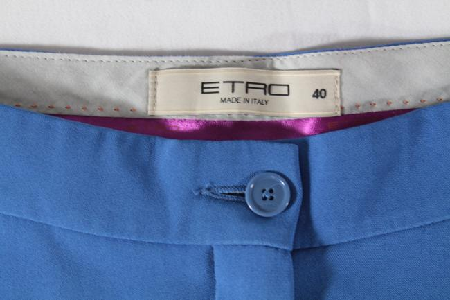 Etro Cropped Trouser Pants Blue Image 3