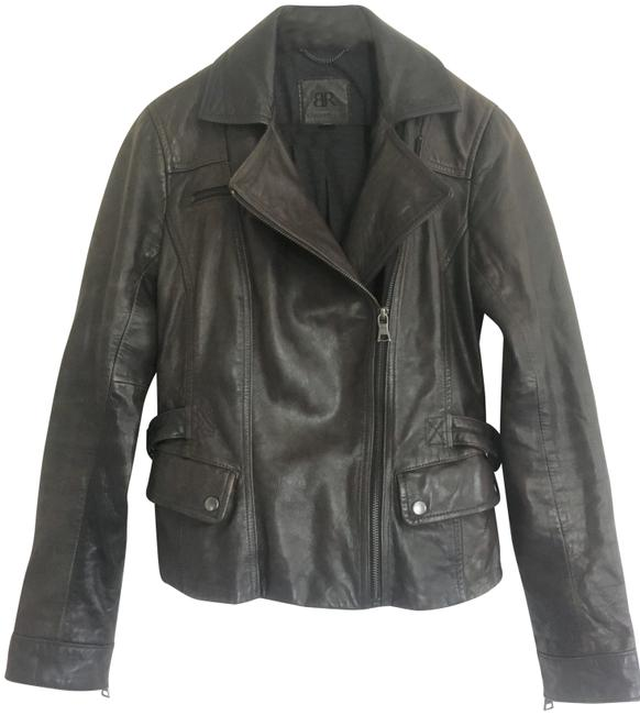 Item - Dark Brown Distressed Leather Jacket Size 2 (XS)