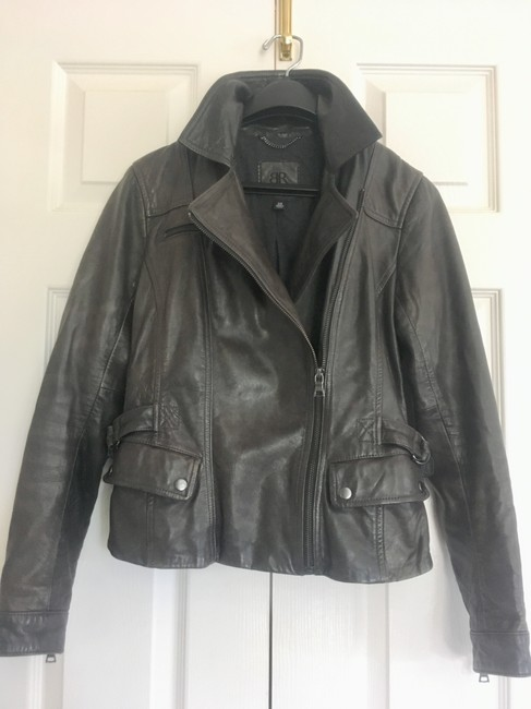Banana Republic Distressed Leather Motorcycle Jacket Image 1