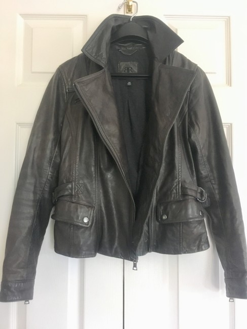 Banana Republic Distressed Leather Motorcycle Jacket Image 2
