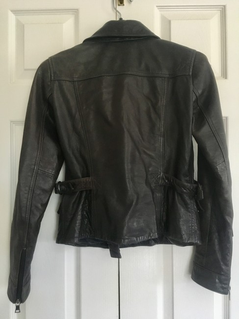 Banana Republic Distressed Leather Motorcycle Jacket Image 3