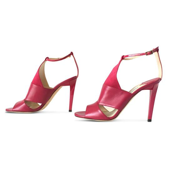 Jimmy Choo Leather Open Toe Stiletto Ankle Strap Pink Sandals Image 4