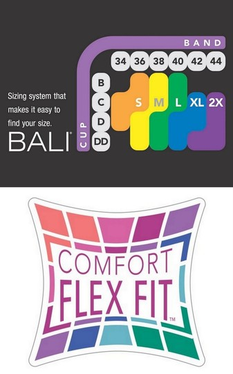 Bali Bali Comfort Revolution ComfortFlex Fit Wirefree Bra 2-Pack Small Image 4