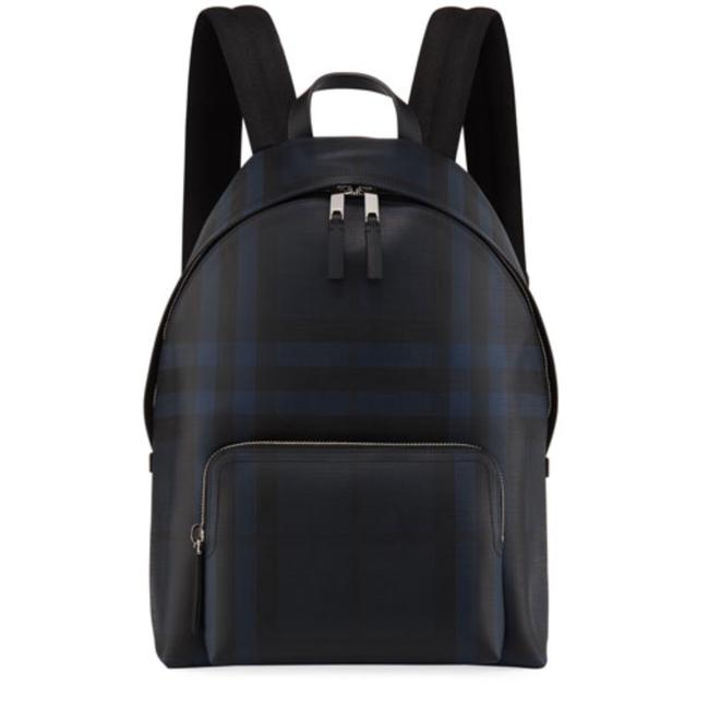Item - Men's Abbeydale Check Navy/Black Leather Backpack