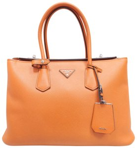 Prada Medium Saffiano Tote in oranged