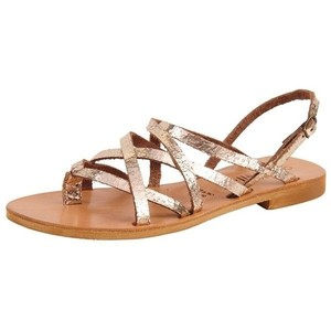 Cocobelle cracked gold Sandals