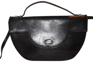 Bally Shoulder/Cross Body Mint Vintage Rare Early Two-way Style Avant Garde Look Satchel in buttery black leather