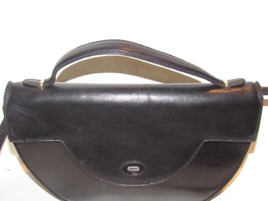 Bally Shoulder/Cross Body Mint Vintage Rare Early Two-way Style Avant Garde Look Satchel in buttery black leather Image 1