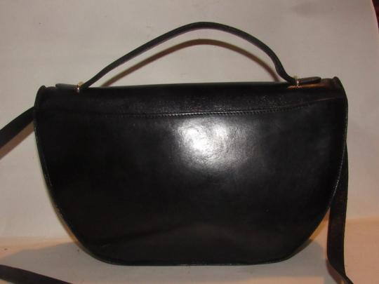 Bally Shoulder/Cross Body Mint Vintage Rare Early Two-way Style Avant Garde Look Satchel in buttery black leather Image 10