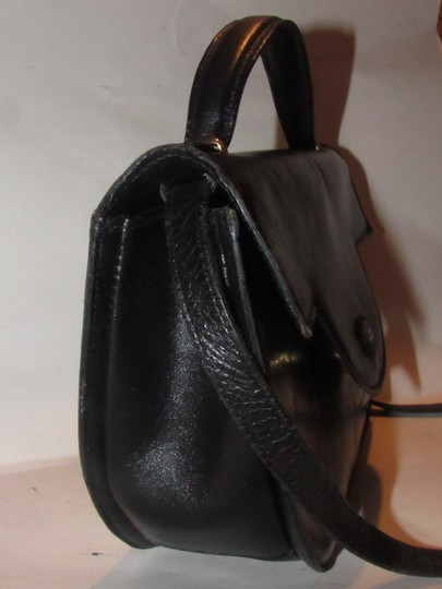 Bally Shoulder/Cross Body Mint Vintage Rare Early Two-way Style Avant Garde Look Satchel in buttery black leather Image 11
