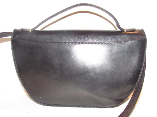 Bally Shoulder/Cross Body Mint Vintage Rare Early Two-way Style Avant Garde Look Satchel in buttery black leather Image 3