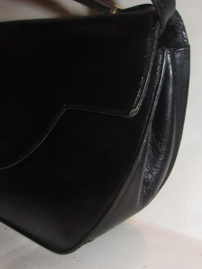 Bally Shoulder/Cross Body Mint Vintage Rare Early Two-way Style Avant Garde Look Satchel in buttery black leather Image 5