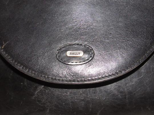 Bally Shoulder/Cross Body Mint Vintage Rare Early Two-way Style Avant Garde Look Satchel in buttery black leather Image 6