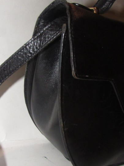 Bally Shoulder/Cross Body Mint Vintage Rare Early Two-way Style Avant Garde Look Satchel in buttery black leather Image 8
