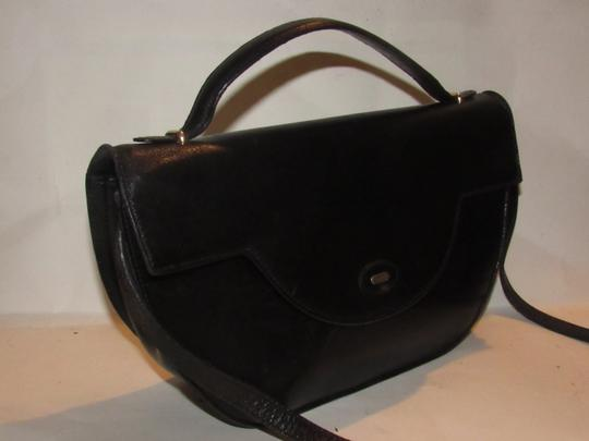 Bally Shoulder/Cross Body Mint Vintage Rare Early Two-way Style Avant Garde Look Satchel in buttery black leather Image 9
